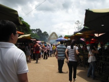 The crowds at the market - Kien Svay