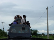 Maximizing space on the way back into Phnom Penh for the work week - Phnom Oudong, Kandal