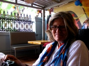 In conversation with Shirley Gunn, executive director of Human Rights Media Centre in South Africa - Blue Dog Guesthouse, Phnom Penh