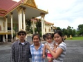 Family haphazardly thrown together for the afternoon to aid in research - Wat Champuh Ka'ek, Kandal (Photo by Borima Chan)