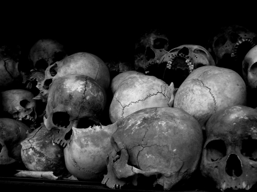 Skulls inside the stupa memorial - Choeung Ek, Kandal (Photo by Matthew Terebessy)