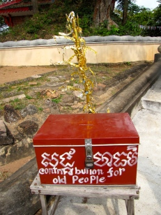 Buddhist decorative article, recycled and upscaled - Phnom Oudong, Kandal