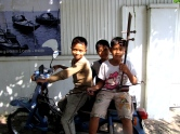 """My """"little brother pals"""" who hang out on the corner outside my house - Phnom Penh, Kandal"""
