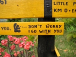 Signs to guide the trekker - Kep National Park, Kep