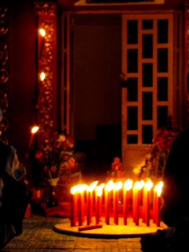 The evening stupa ceremony comes to a close - Samroung, Takeo