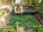 Religious site and the surrounding lotus pond - Phnom Chi Sol, Takeo