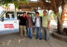 Staff of HelpAge made fieldwork in Battambang a rewarding collaborative project, from left to right, Angela Lim, Sampov Bun, Xuan Dong Le, and Sunheng Chab - Wat Chrey, Battambang