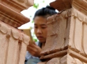 Doing something or other with my notes - Wat Tha Loas Chah, Battambang (Photo by Angela Lim)