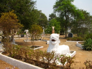 Statues of animals and mythical figures are a much more common sight at temples in Battambang than in provinces like Kandal in the east - Wat Pratheat, Battambang
