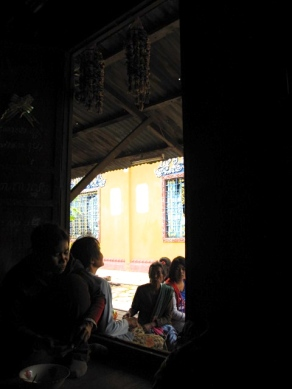 View from the mat where I was napping after a long day riding around the Robas Mongkol commune - Wat Koh Kralos, Battambang