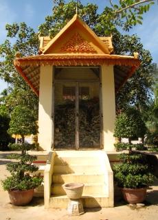 The newer, smaller memorial - Wat Tmei, Siem Reap