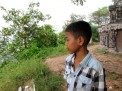 Young guide Roat tells stories about the mountain - Phnom Oudong, Kandal