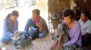 Interviewing with the 74-year old Oeung Duong in collaboration with HelpAge Cambodia staff - Srey Oeu, Battambang (Photo by Lee Nemo)