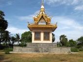 The bas relief unique to the Samrong Knong memorial - Wat Samrong Knong, Battambang