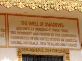 Inscription indicates the collaborative nature of the memorial - Wat Samrong Knong, Battambang