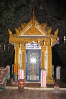 Little memorial house of bones sits deep in the caves - Phnom Sampeou, Battambang