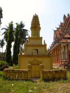 The initiative of a Cambodian-American woman who wanted to build a memorial back in her homeland - Wat Chrey, Battambang