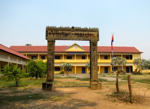 The school now standing on the grounds where a former Khmer Rouge clinic used to stand and where my grandmother and aunt passed away during the Khmer Rouge period - Koan Ka'ek, Battambang