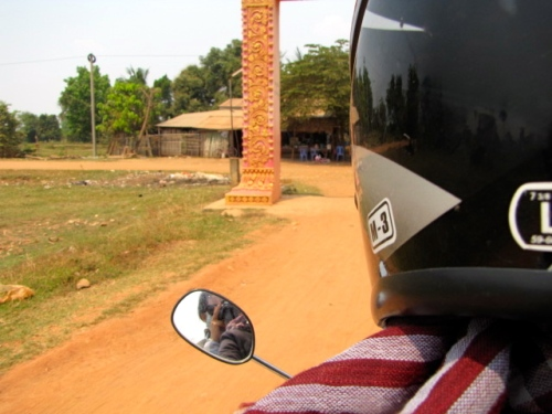 Riding on the back with Sampov (for hours) on day two in Moung Russei - Pratheat, Battambang