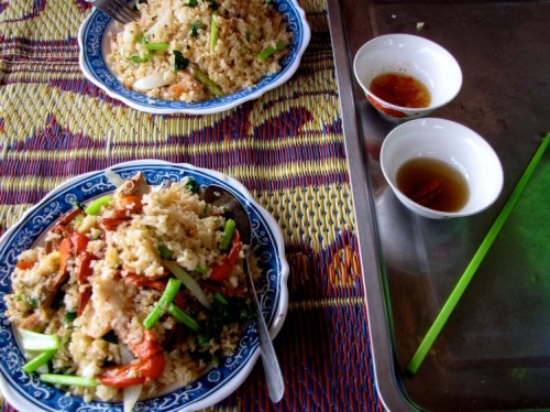 A meal arrangement ready for consumption - Koh Kong
